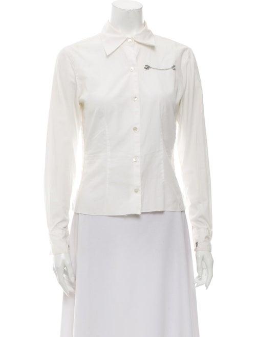 Libertine Long Sleeve Button-Up Top