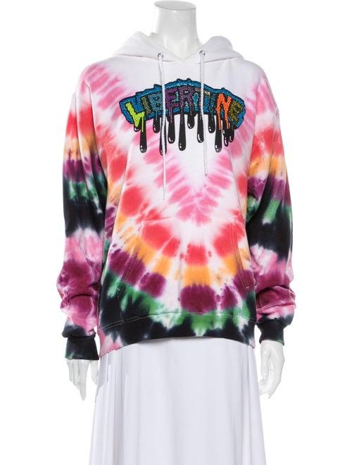 Libertine Tie-Dye Print Crew Neck Sweater White