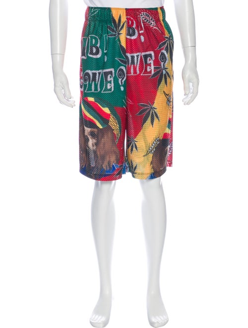 Libertine Printed Athletic Shorts w/ Tags Green