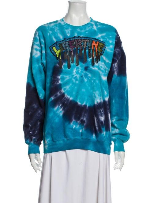 Libertine Tie-Dye Print Crew Neck Sweatshirt Blue