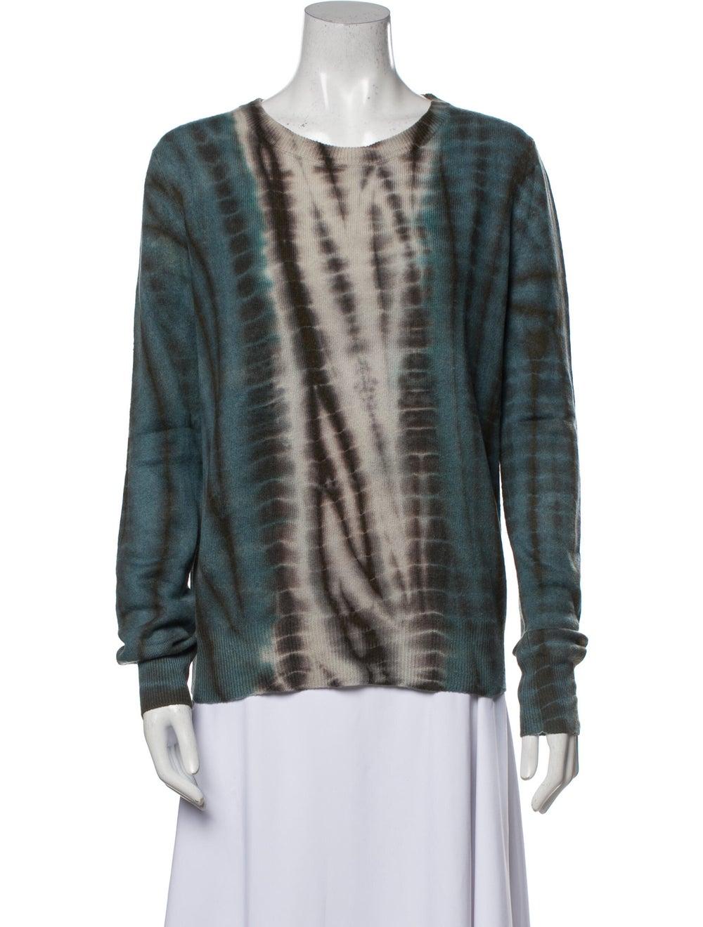 Libertine Cashmere Tie-Dye Print Sweater Blue - image 1