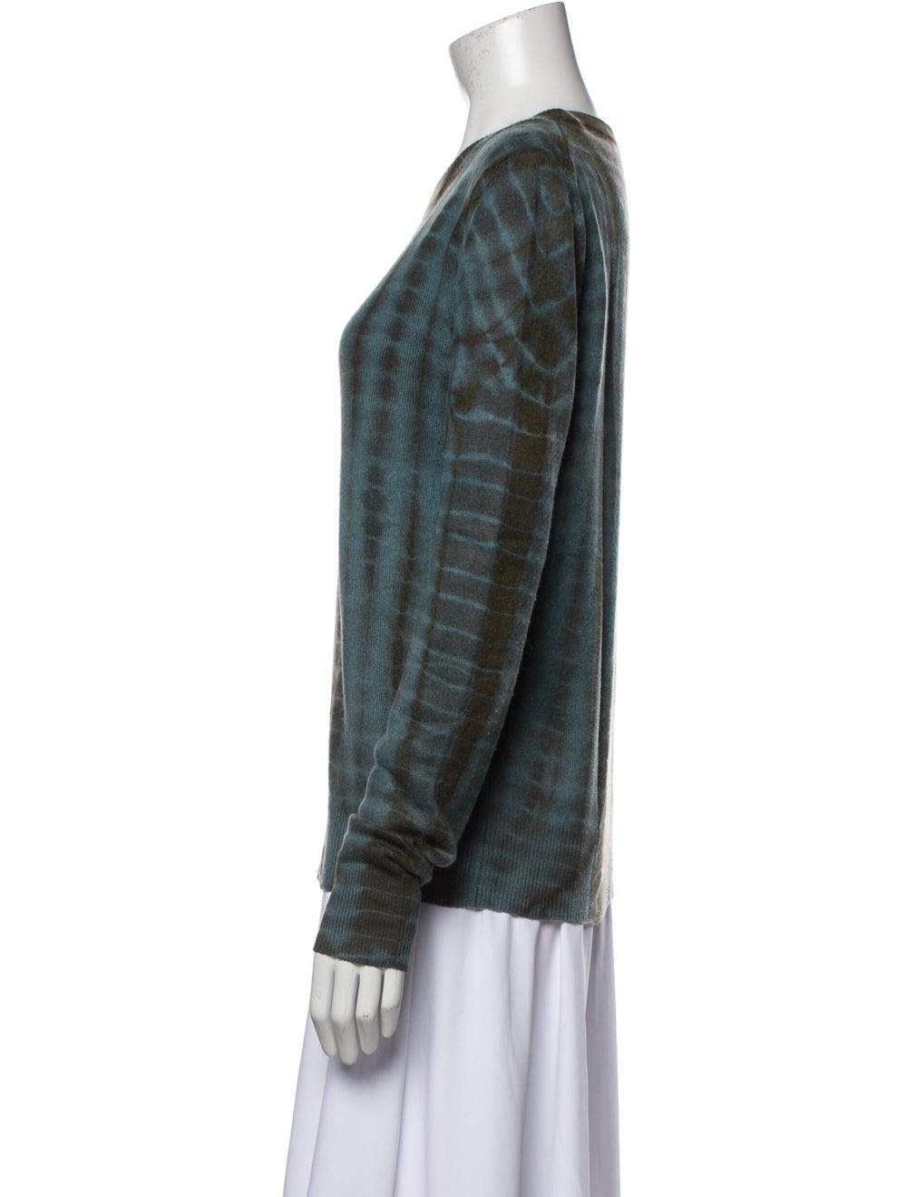 Libertine Cashmere Tie-Dye Print Sweater Blue - image 2