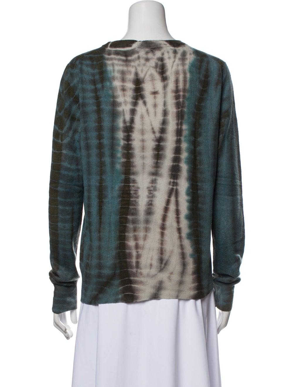 Libertine Cashmere Tie-Dye Print Sweater Blue - image 3
