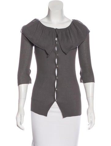 Liviana Conti Rib Knit Button-Up Cardigan None