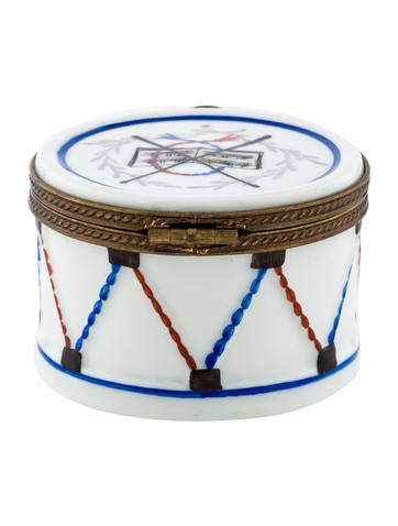 limoges hand painted porcelain drum decor and accessories lim20580 the realreal. Black Bedroom Furniture Sets. Home Design Ideas