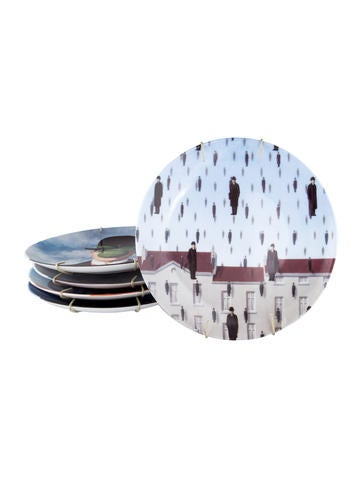 Limoges Ligne Blanche Ren Magritte Plates Decor And