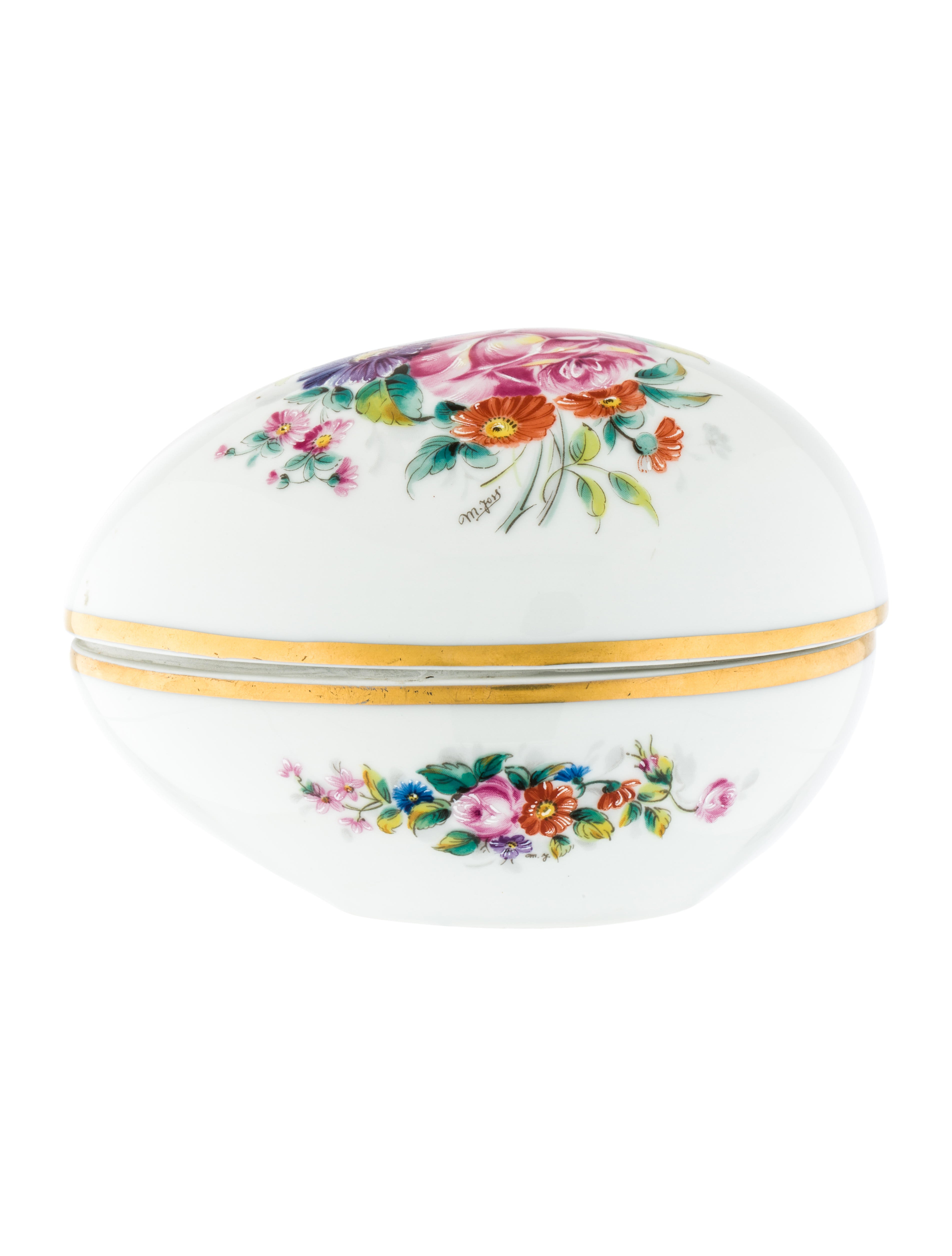 Limoges Hand Painted Oval Box Decor And Accessories