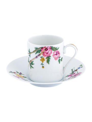 Limoges Floral Demitasse Cup & Saucer None