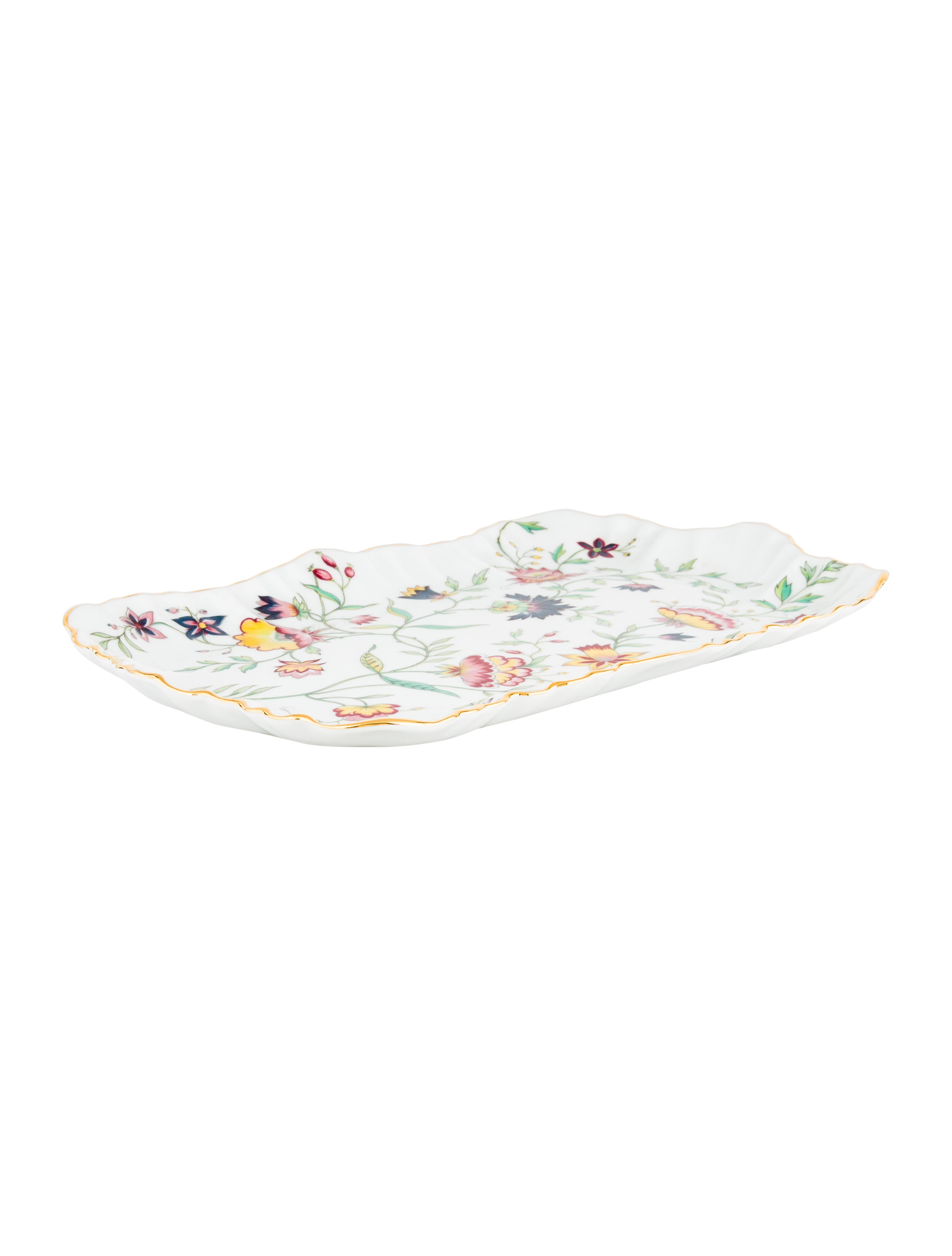 Royal Limoges Adriana Floral Tray