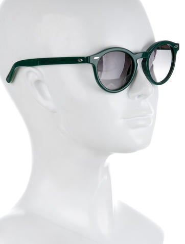 Green Gradient Lens Sunglasses