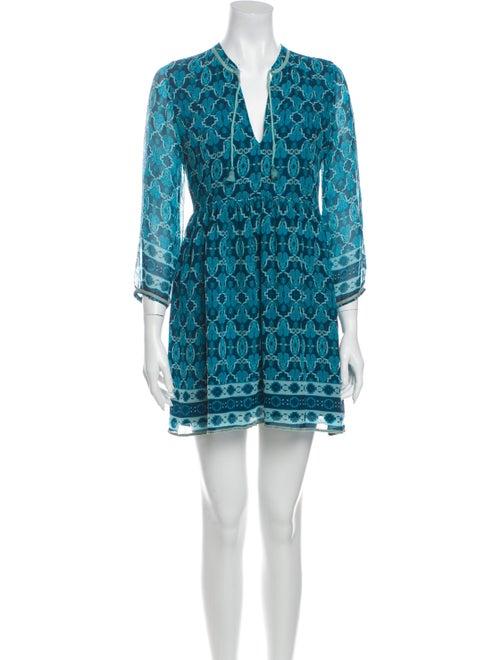 Lolita jaca Silk Mini Dress Blue