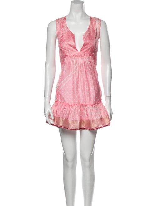 Lolita jaca Silk Mini Dress Pink