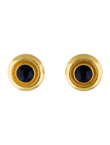 Lalaounis Sodalite Clip-On Earrings
