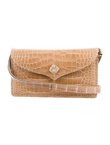 Lana Marks Jewel Embellished Alligator Crossbody Bag