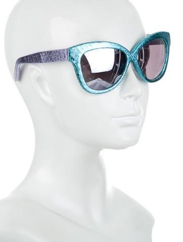 Snakeskin Cat-Eye Sunglasses