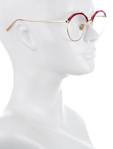 Gold-Tone Round Eyeglasses