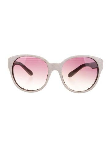 Snakeskin Oversize Sunglasses