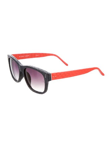 Snakeskin Colorblock Sunglasses