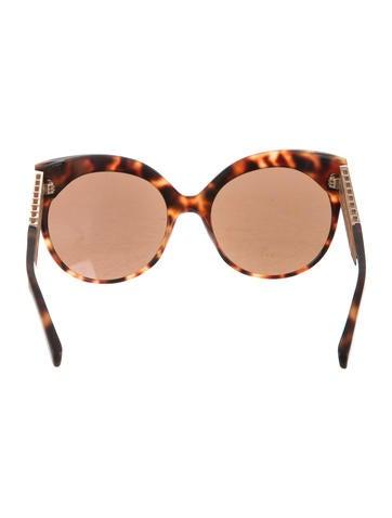 Reflective Cat-Eye Sunglasses