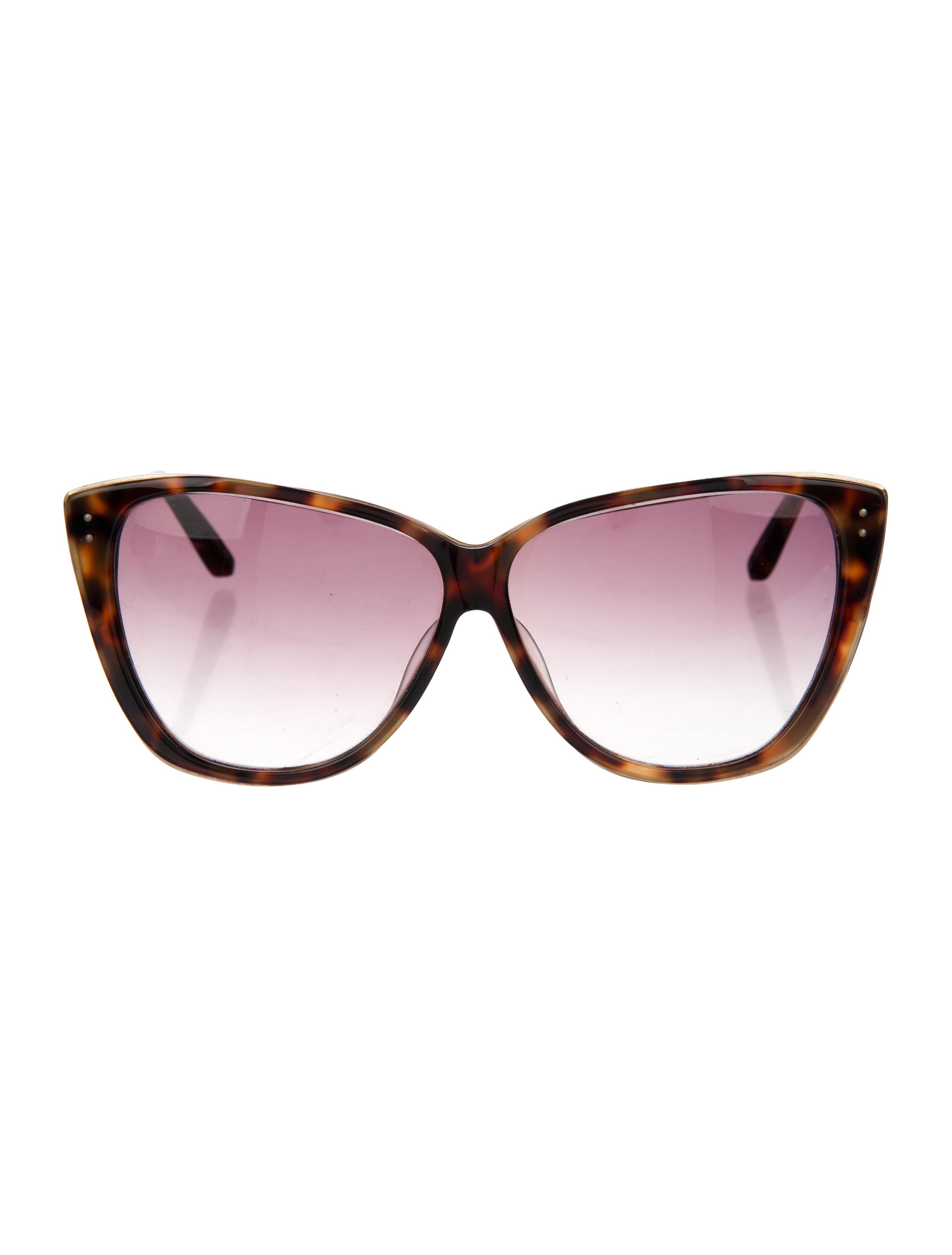 41c5fcf929bc ... Linda Farrow Oversize Tortoiseshell Sunglasses. Oversize Tortoiseshell  Sunglasses