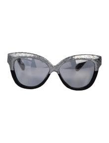 31d6f2dc1020 Linda Farrow. Snakeskin Oversize Sunglasses