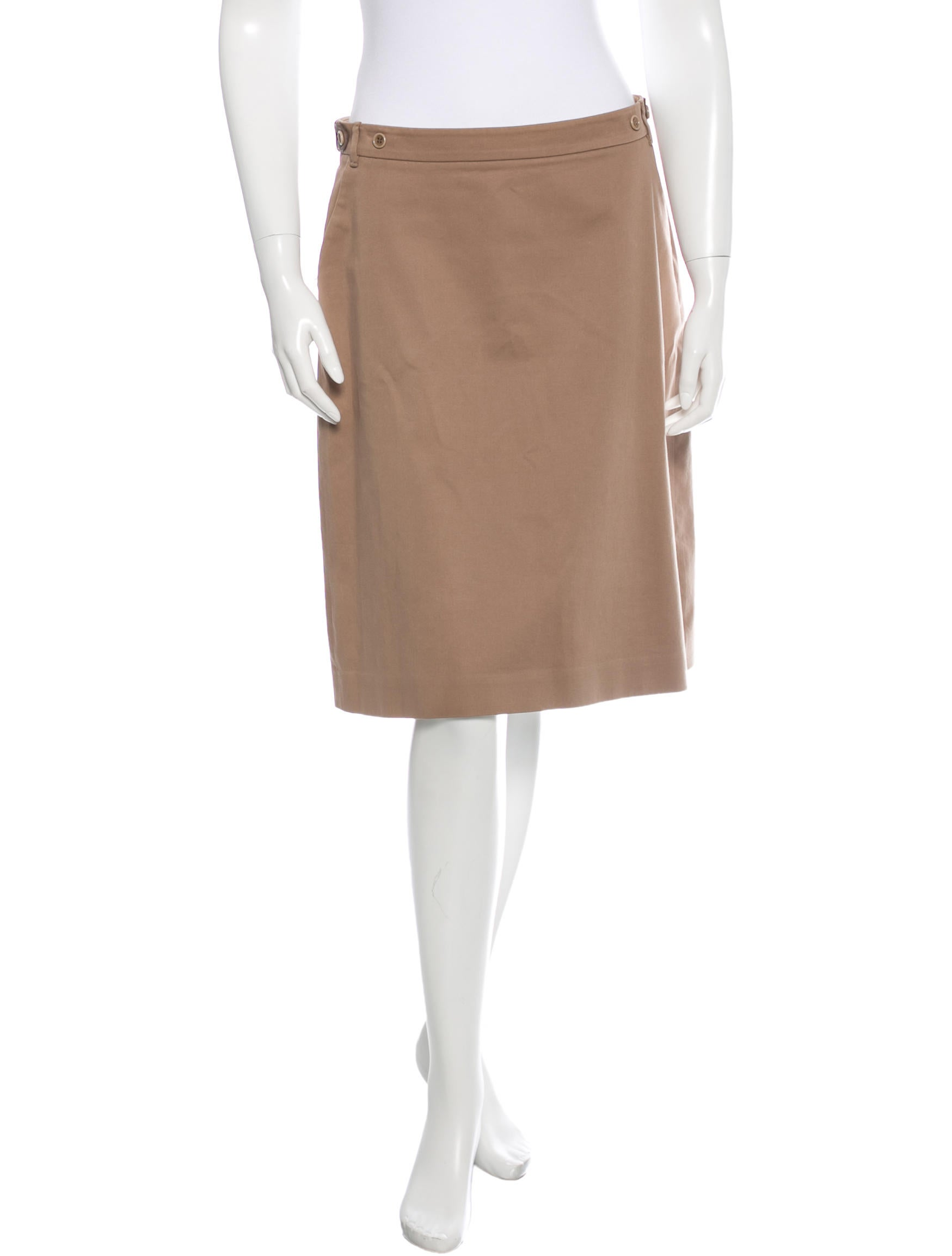 loro piana leather trimmed a line skirt clothing