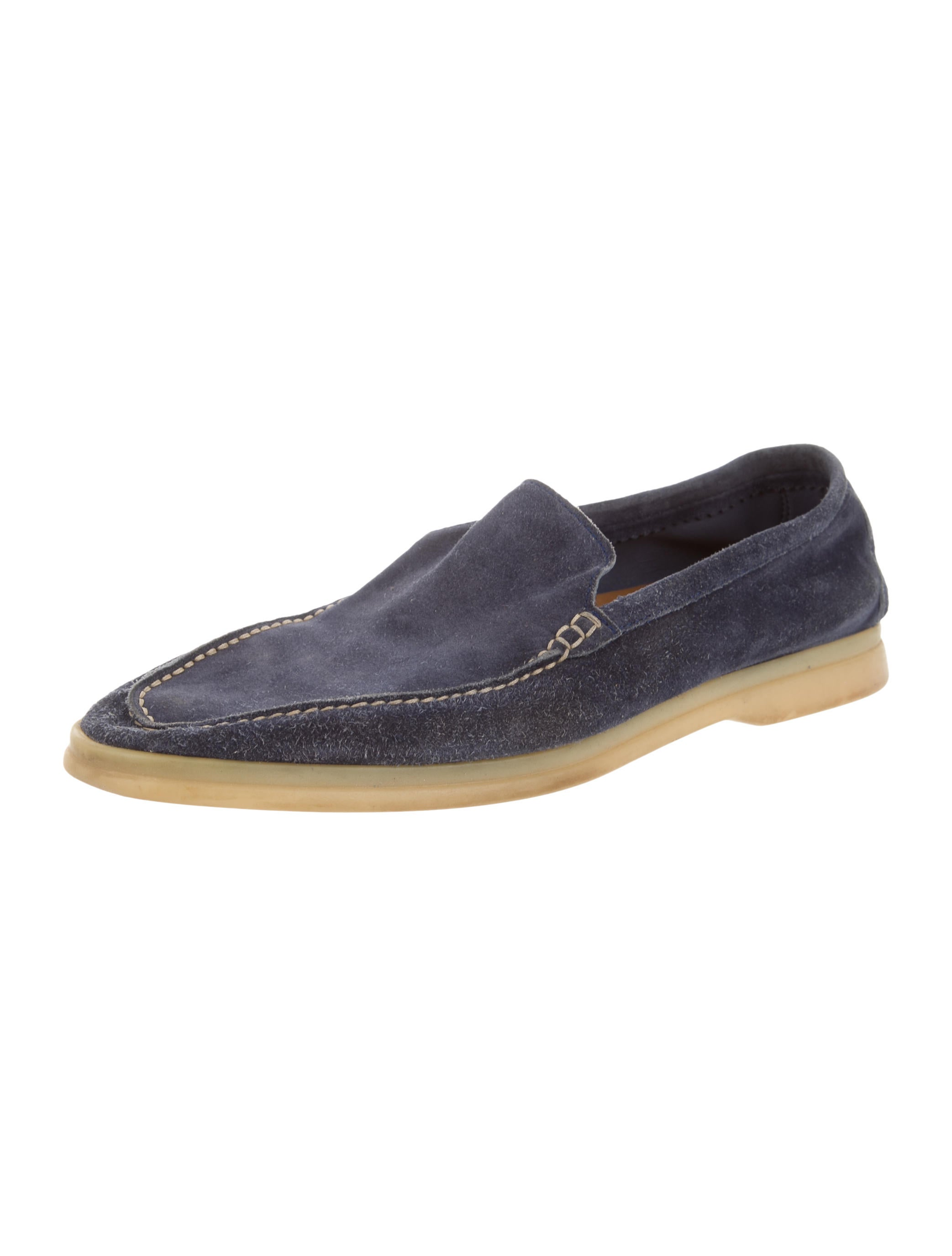loro piana suede summer walk loafers shoes lor28941
