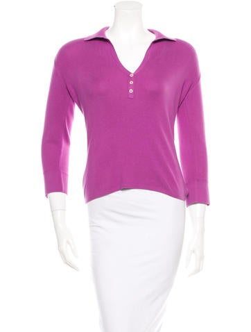 Loro Piana Rib Knit Collar Top None