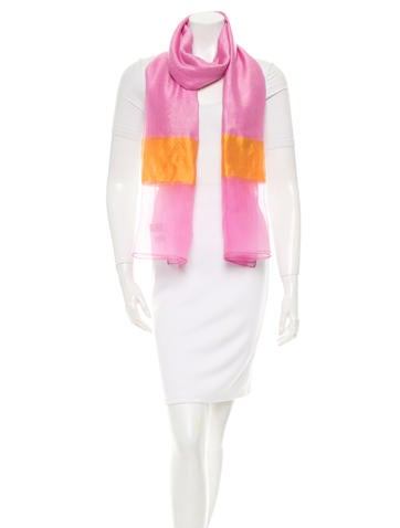 Bicolor Cashmere & Silk-Blend Shawl