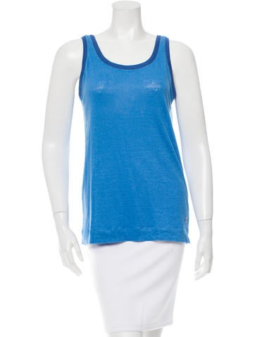 Loro Piana Sleeveless Linen Top None