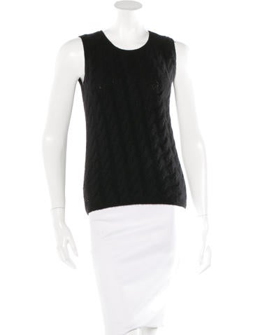 Loro Piana Cable Knit Sleeveless Top None