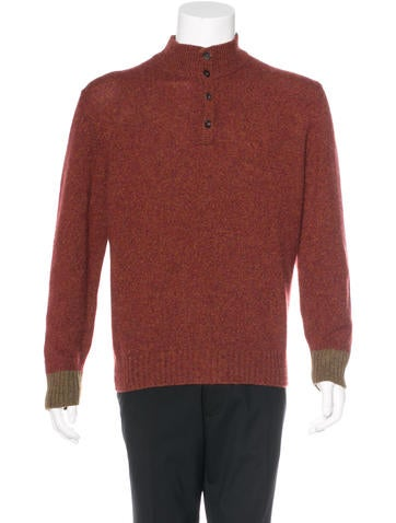 Loro Piana Cashmere Rib Knit Sweater None