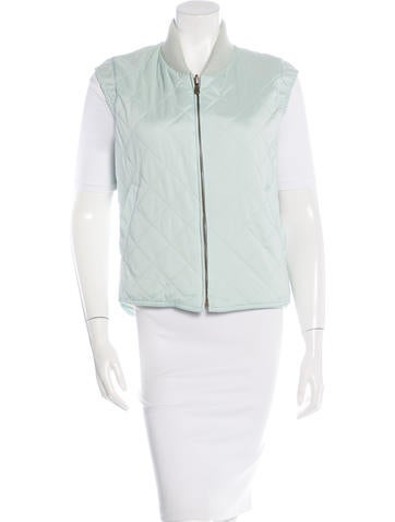 Loro Piana Rib Knit-Trimmed Quilted Vest None