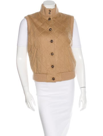 Loro Piana Cashmere Quilted Vest None