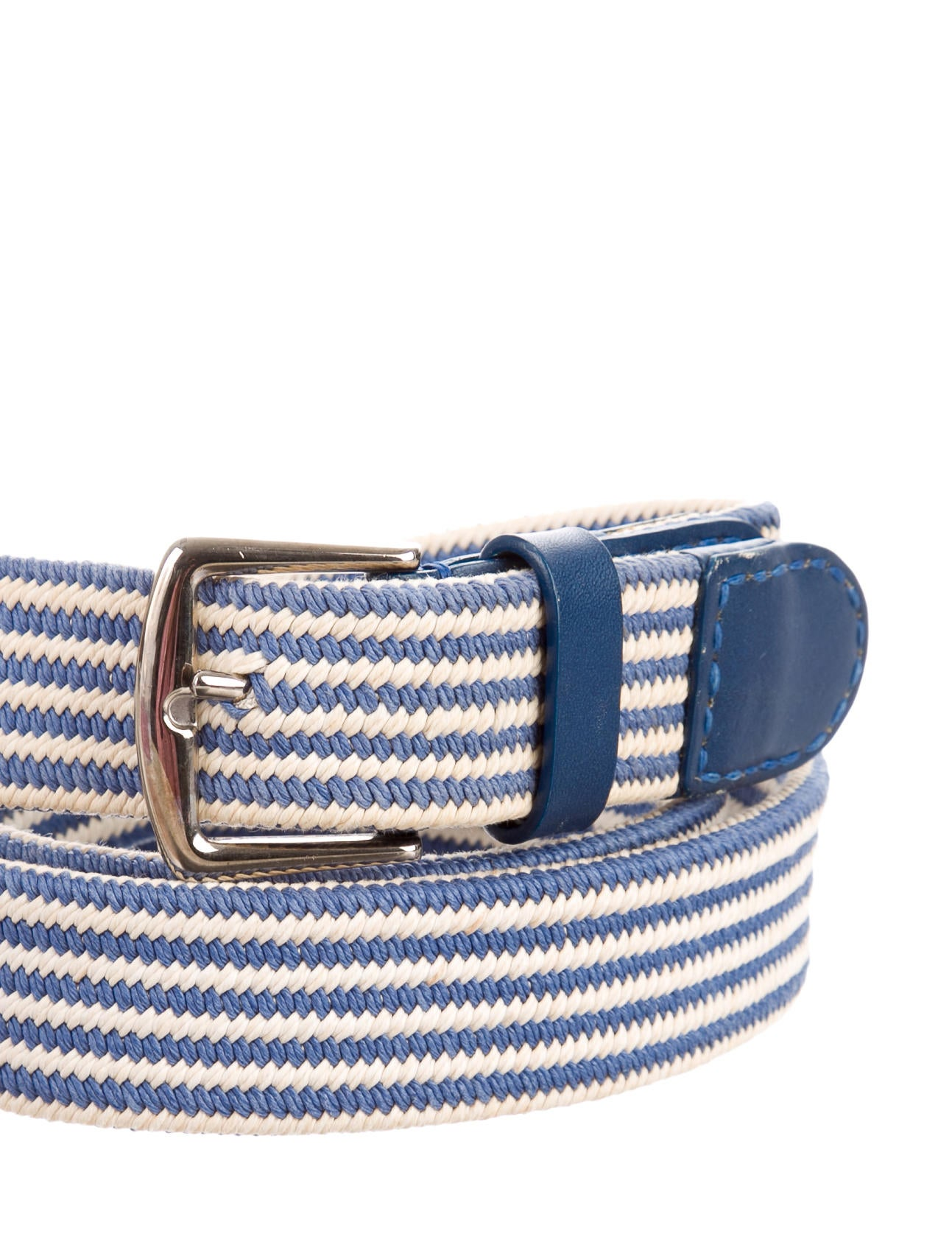 loro piana leather trimmed woven belt accessories