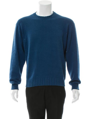 Loro Piana Pullover Rib Knit-Trimmed Sweater None
