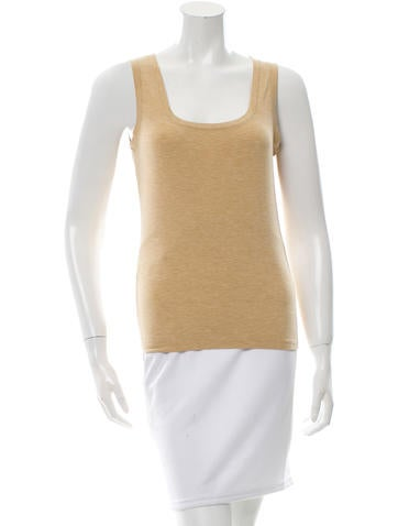 Loro Piana Scoop Neck Sleeveless Top None