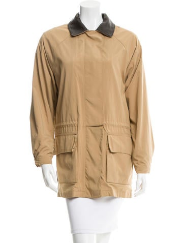 Loro Piana Leather-Trimmed Drawstring Jacket