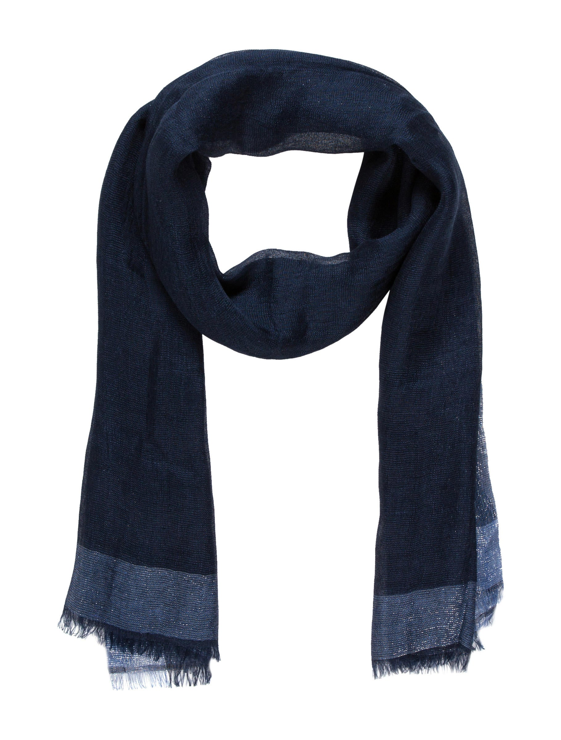 loro piana metallic linen scarf accessories lor31333