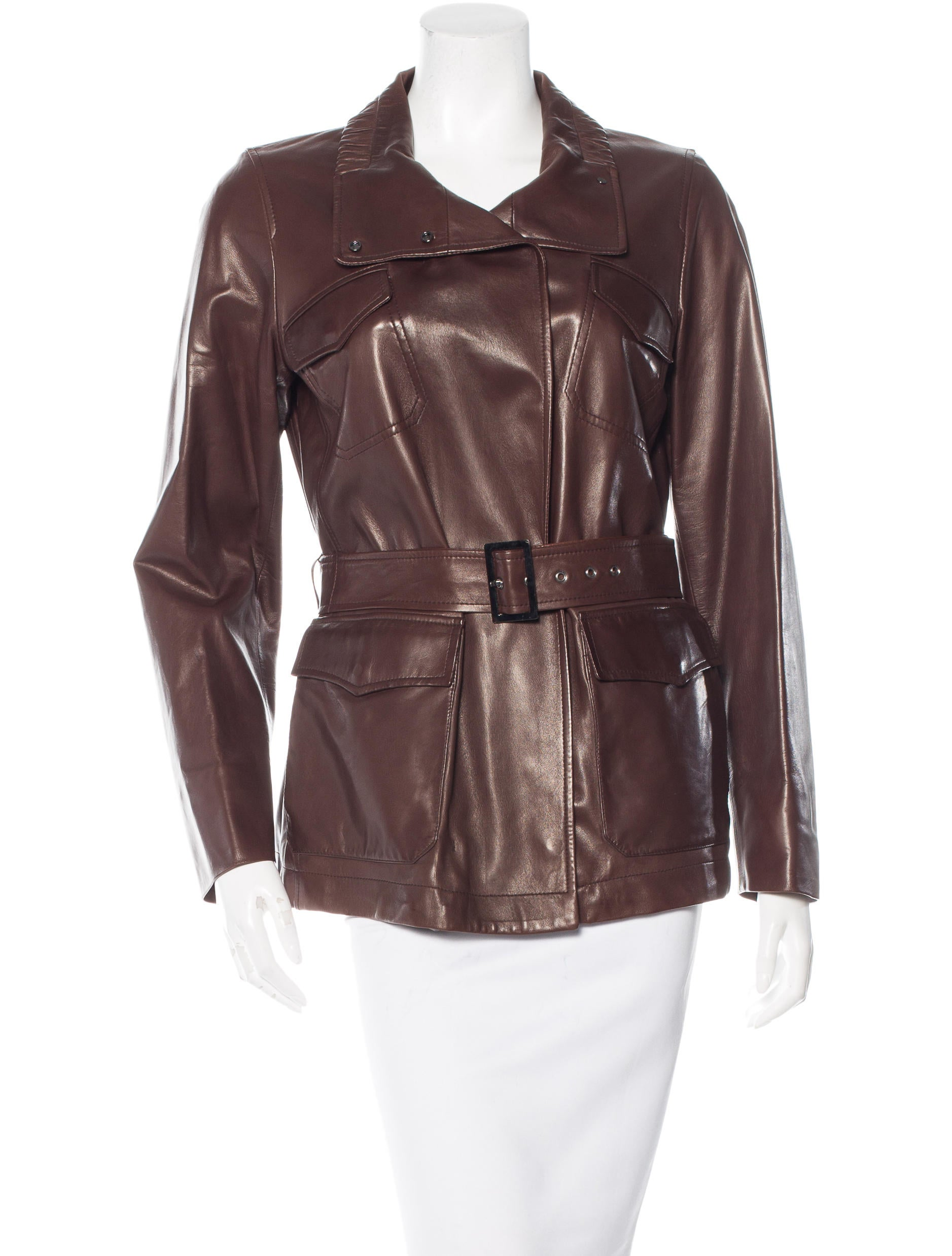 loro piana belted leather jacket w tags clothing