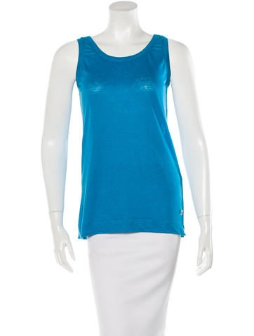 Loro Piana Sleeveless Scoop Neck Top w/ Tags None