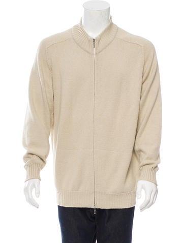 Loro Piana Rib Knit-Trimmed Zip-Up Sweater None