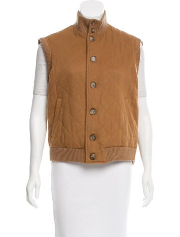 Loro Piana Cashmere Quilted Vest None