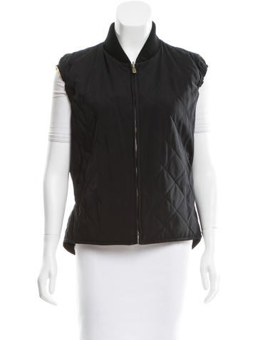 Loro Piana Black Quilted Vest None
