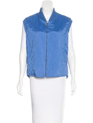 Loro Piana Quilted Collared Vest None