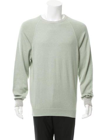 Loro Piana Silk & Cashmere Crew Neck Sweater None