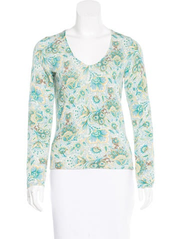 Loro Piana Printed Silk Top None
