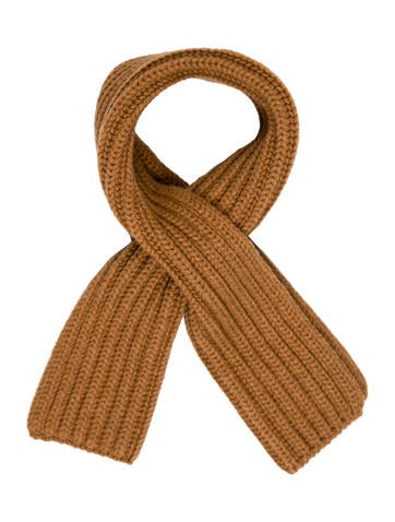 Loro Piana Cashmere Rib Knit Scarf w/ Tags None