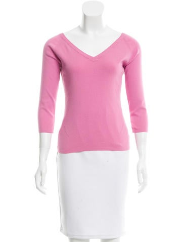 Loro Piana V-Neck Knit Top None