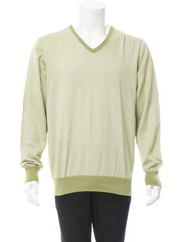 Loro Piana Long Sleeve V-Neck Sweater None